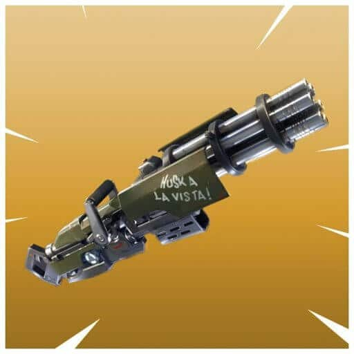 The Minigun in Fortnite